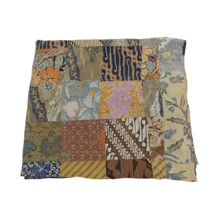 Large Indian Batik Patchwork Blanket