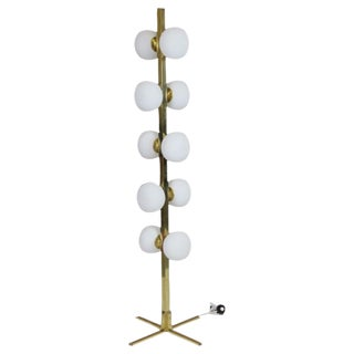 Modern Space Age Design Brass Floor Lamp