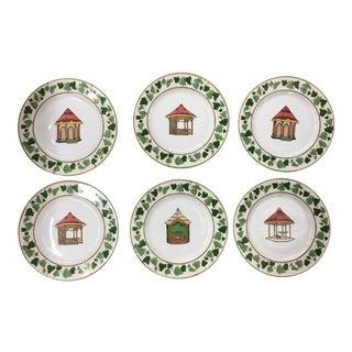 Limoges France Pierre Frey Porcelains Plates - Set of 6