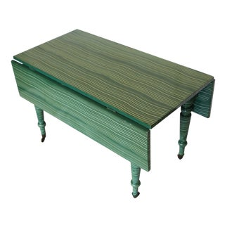 Antique Painted Drop-Leaf Table