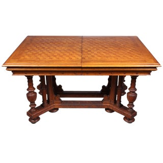 1870s French Renaissance Style Parquetry Dining Table