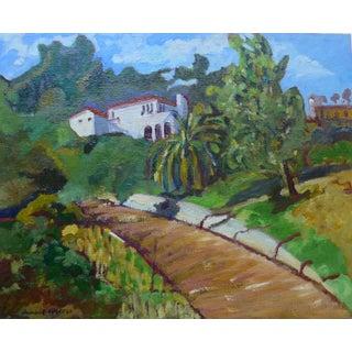 """""""Pacific Palisades"""" Original Oil Painting by Humbert Curcuru"""