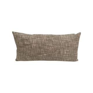 Woven Taupe Rectangular Pillow