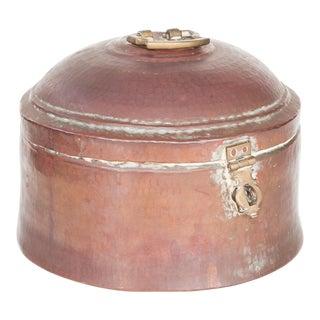 Antique Indian Lidded Copper Pot