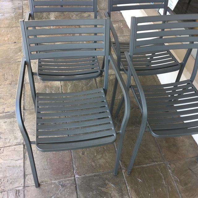 Emu Segno Stackable Outdoor Dining Chairs - Set of 4 - Image 6 of 8