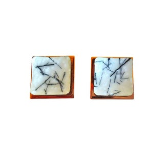 Copper and Enamel Earrings