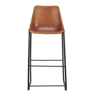 Roadhouse Leather Bar Stools - A Pair