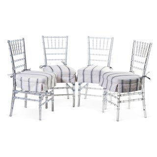 Jonathan Rachman Lucite Dining Chairs - Set of 4