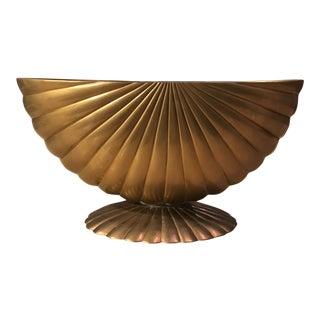 Vintage Brass Shell Planter