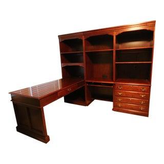 Mahogany Home Office Set - A Pair