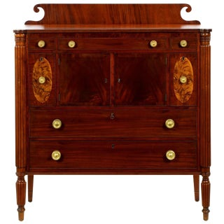 American Federal Inlaid Mahogany & Cherry Chest of Drawers
