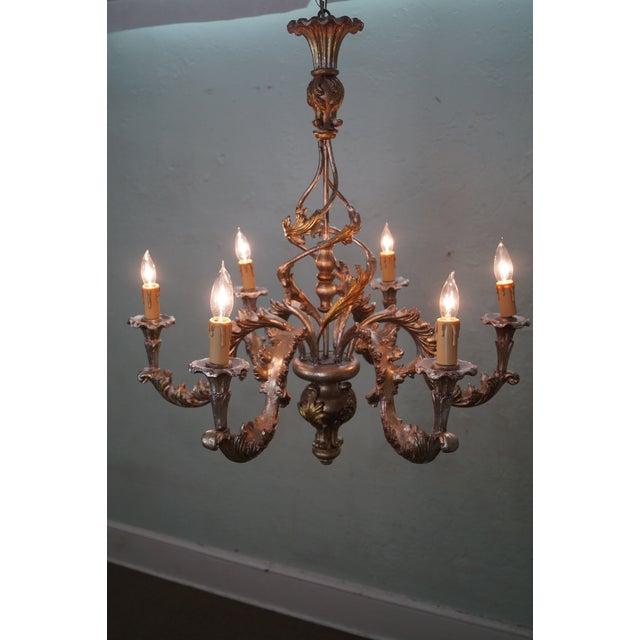 Italian Florentine Carved Gilt Rococo Chandelier - Image 3 of 10