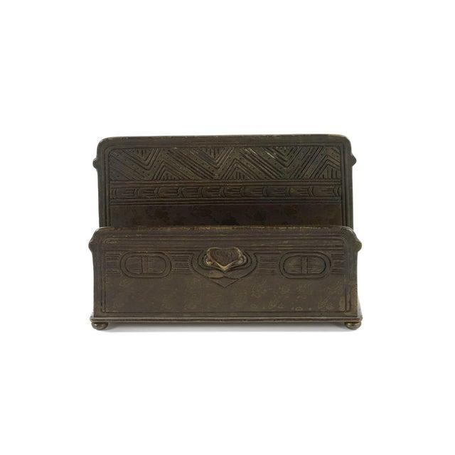 Tiffany Studio New York- Bronze Desk Letter Holder - Image 7 of 9