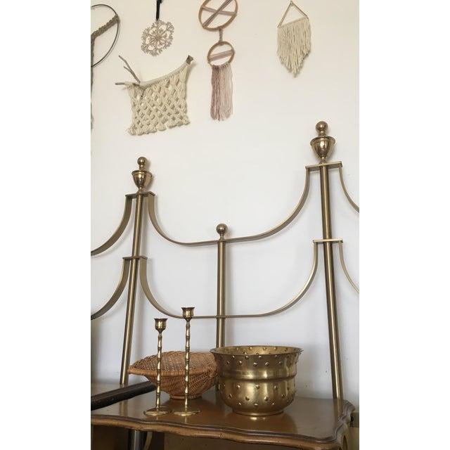 Vintage Hobnail Brass Planter - Image 4 of 6