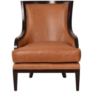 Oly Saddle Leather Library Chair
