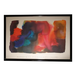 """Expanding Red"" Lithograph Signed by Amanda Block"