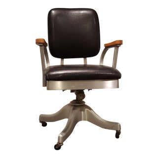 Vintage Shaw Walker Propeller Swivel Office Chair
