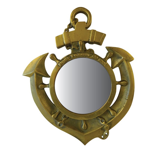 Brass Nautical Mirror - Image 1 of 6