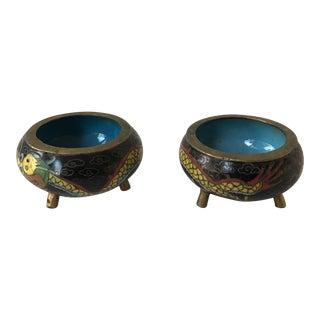 Petit Cloisonné Bowls - Pair