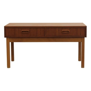 Swedish Teak Two Drawer End Table