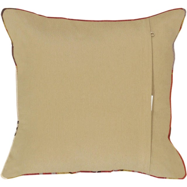 Red And Cream Pasargad Vintage Kilim Pillow - Image 2 of 2