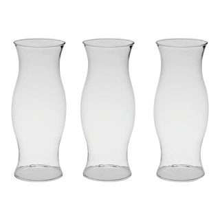 Glass Hurricane Shades - Set of 3