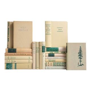 Tan & Green MiD-Century Book Mix - Set of 20