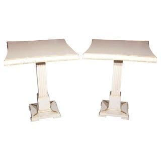 Grosfeld House Painted End Tables - Pair