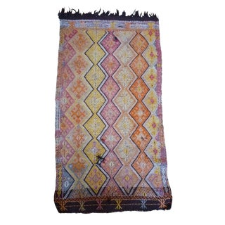 "Kilim Rug With Horse Hair Fringe - 2' 7"" X 5'"