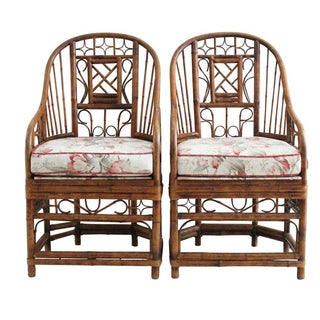 Bamboo Style Armchairs - Pair