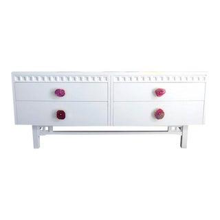 Mid-Century White Dresser Credenza