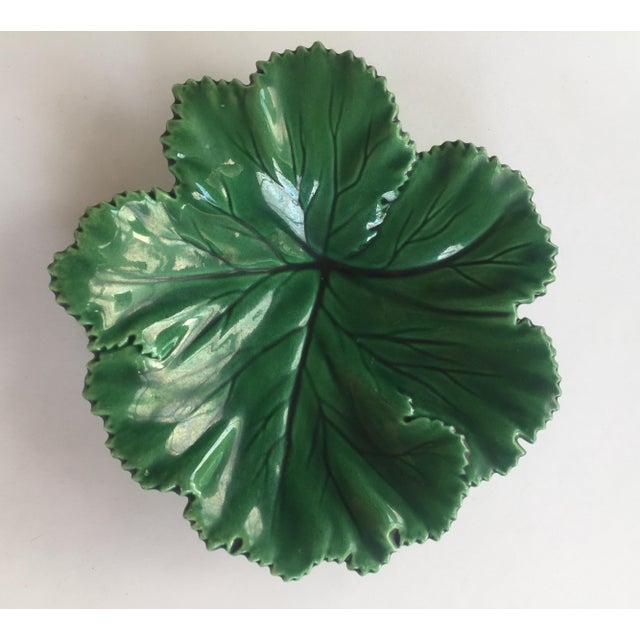 Vintage Portuguese Majolica Leaf Plate - Image 5 of 10