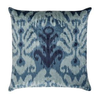 "Piper Collection Blue Velvet Pattern ""Bo"" Pillow"