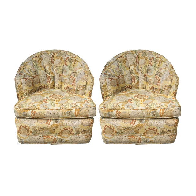 Mid-Century Hollywood Regency Club Chairs - A Pair - Image 1 of 6