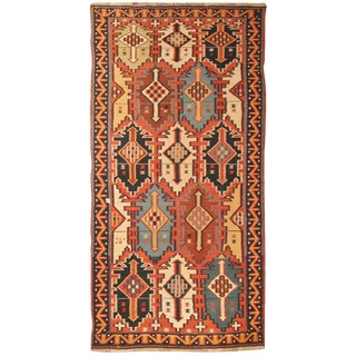 Exceptional Antique Mid 19th Century Caucasian Kilim