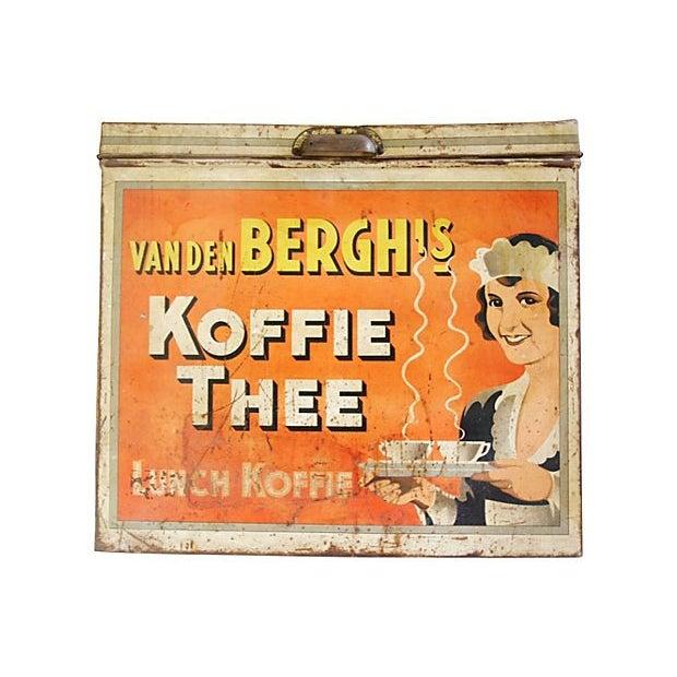 Large 1930s Van Den Berghs Koffie Coffee Tin Box - Image 2 of 7
