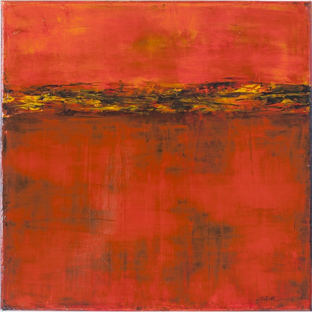Susan Martell 'Red Sky at Night' Painting - Image 1 of 2