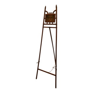 Standing Floor Model Vintage Bamboo and Brass Easel