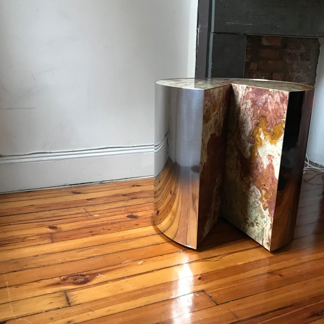 Pace Collection Red Jasper 'Pie' Side Table, 1970 - Image 4 of 9