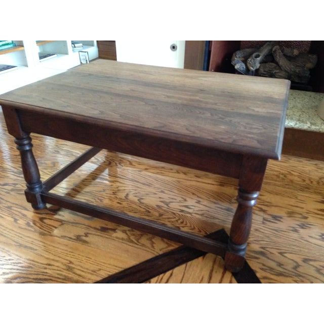 Country Style Reclaimed Oak Coffee Table Chairish