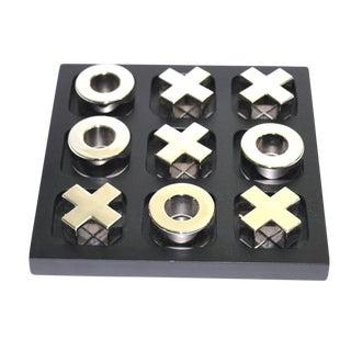 Vintage Silver Tic Tac Toe Game Set