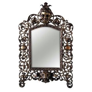 Victorian Cast Brass Mirror