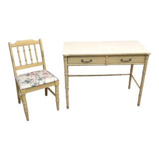 Henry Link Bali Hai Writing Desk & Chair