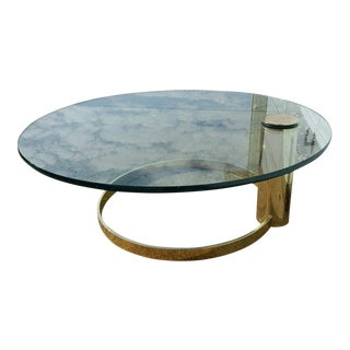 Leon Rosen for Pace Collection Brass Coffee Table
