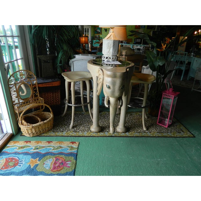 Marge Carson Elephant High Table & Stools - Set of 3 - Image 5 of 9