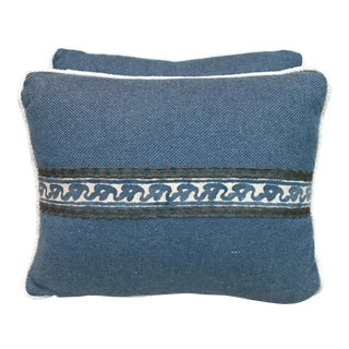 Fortuny Blue & Cream Pillows - A Pair