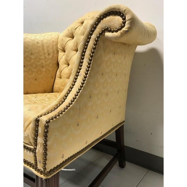 Vintage Fairington Mahogany Frame Button Tufted Arm Chair - Image 9 of 11