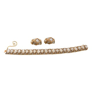 Panetta Parure Bracelet, Brooch & Earrings
