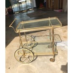 Image of Italian Brass Bar Cart