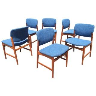 Danish Mid Century Modern Teak Dining Chairs - S/6